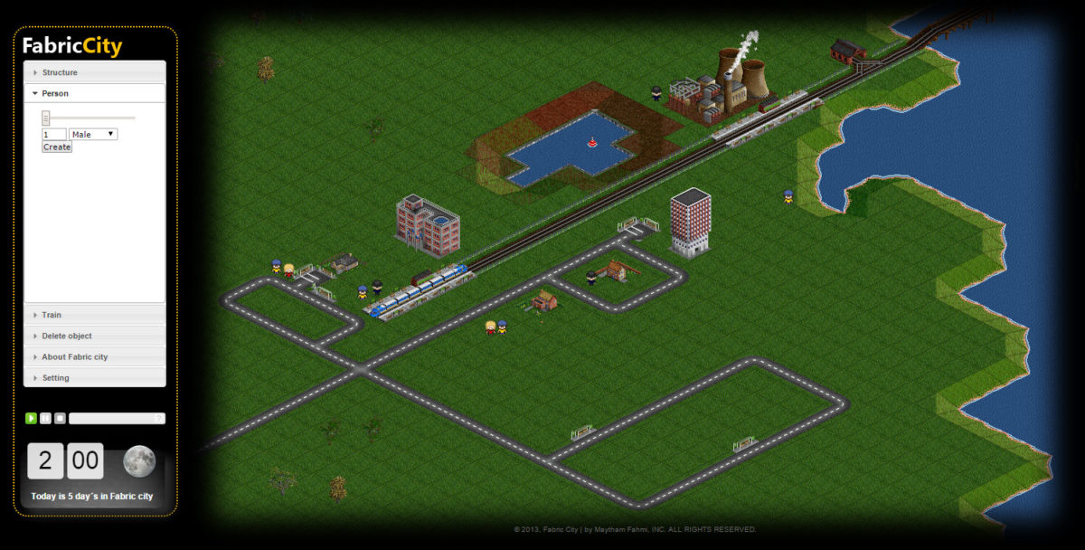 fabric city based on OpenTTD